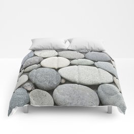 Grey Beige Smooth Pebble Collection Comforters