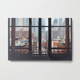 New York City Window Metal Print