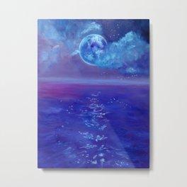 Moon Over Hawaii Metal Print