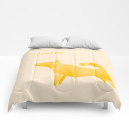 Let's Go Outside - Origami Yellow Dog Comforters