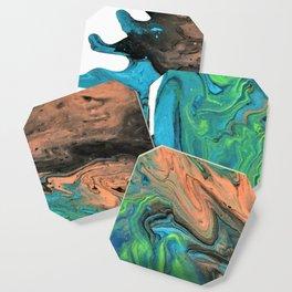 Earth & Water theme abstract acrylic art Coaster