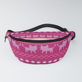 Ugly Christmas Cat Sweater Fanny Pack