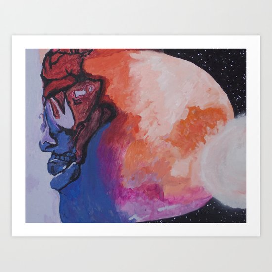 Man On The Moon (Revisited) : The Second Landing Art Print