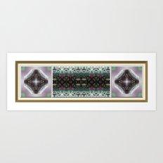 Snowy Rose Brier  Art Print