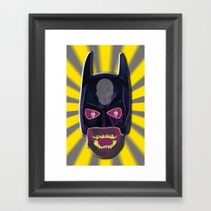 Skull Man Framed Art Print