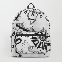 Black and White Boho Backpack