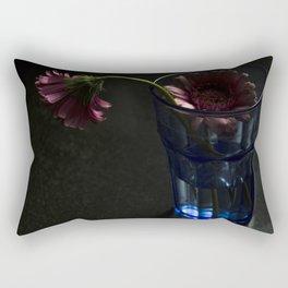 Blooming Gerbera Flower Rectangular Pillow