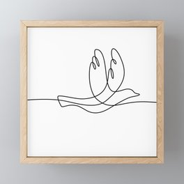 Bird Flying Continuous Line Framed Mini Art Print