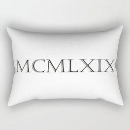 Roman Numerals - 1969 Rectangular Pillow