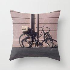 PARIS BIKE 1984 Throw Pillow
