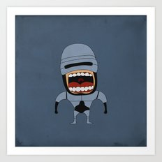 Screaming Robocop Art Print
