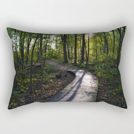 Boardwalk through the forest in southern Ontario Rectangular Pillow