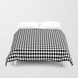 mini Black and White Mini Diamond Check Board Pattern Duvet Cover