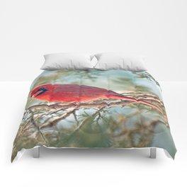 I Spy... (Northern Cardinal) Comforters