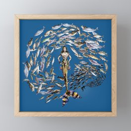 Mermaid in Monaco Framed Mini Art Print