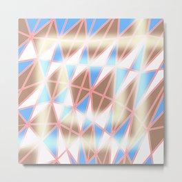 Pastel Tracery Metal Print