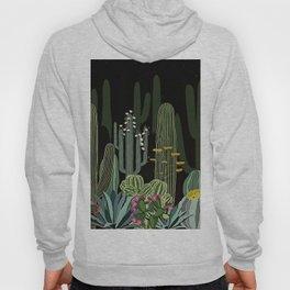 Cactus Garden at Night Hoody