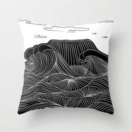 Mountain and Sea Throw Pillow