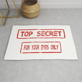 Top Secret For Your Eyes Only Rug
