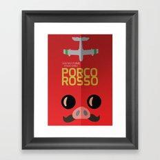 Porco Rosso - Hayao Miyazaki - Alternative, animated movie, Crimson Pig, studio ghibli, Poster Framed Art Print