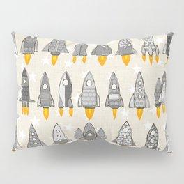 retro rockets mono Pillow Sham