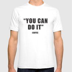 You can do it Mens Fitted Tee White SMALL