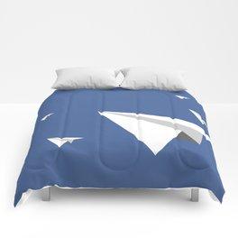 Paper Plane Fleet Comforters