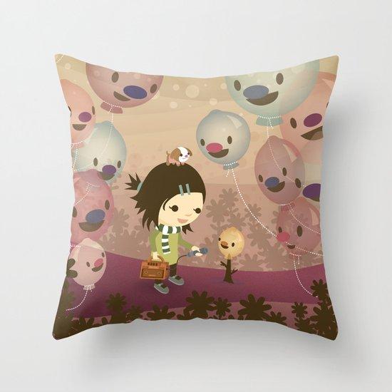 Balloon Tree Song Throw Pillow