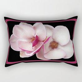 tulip magnolia twins (black bg) Rectangular Pillow