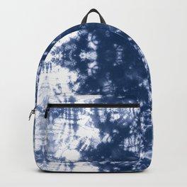 Shibori Tie Dye 2 Indigo Blue Backpack