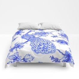 Chinoiserie Peacock Comforters