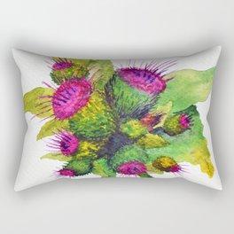 Watercolour Thistles Rectangular Pillow