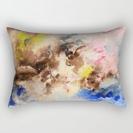 The confrontation of the clouds. Bright abstract art. Rectangular Pillow