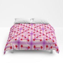 Heart Fractal Art - Abstract Art- Charmed- Sacred Geometry Comforters