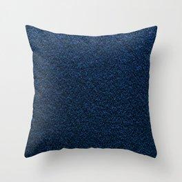 Dark Blue Fleecy Material Texture Throw Pillow