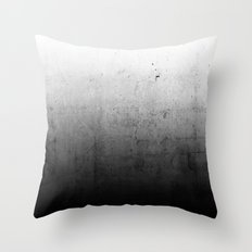 Black Ombre Concrete Texture Throw Pillow