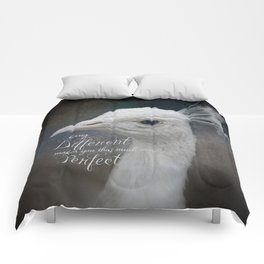 Being Different White Peacock Comforters