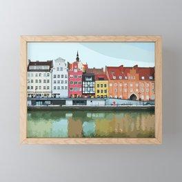 Gdansk Riverside Architecture - City View Framed Mini Art Print