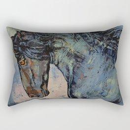 Friesian Stallion Rectangular Pillow