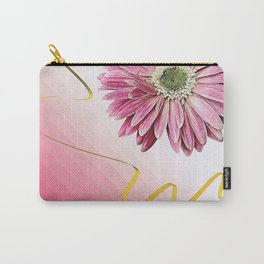 pink gerbera daisy with ribbon Carry-All Pouch