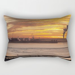 Port Talbot steel works Rectangular Pillow
