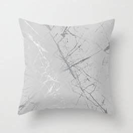 Silver Splatter 089 Throw Pillow