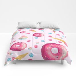 Sugar Sweet Tooth Pink Comforters