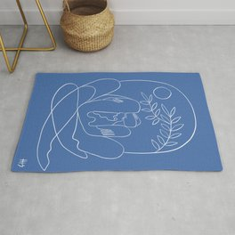 About Kaleidoscopes (classic blue) Rug