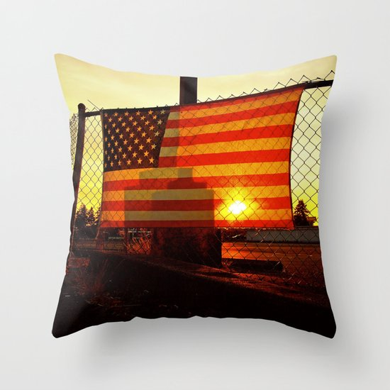 America's sunset Throw Pillow