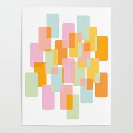 Pastel Geometric Shape Collage Poster