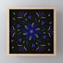 Blue Starflower Framed Mini Art Print