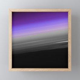Purple Gray Black Smooth Ombre Framed Mini Art Print