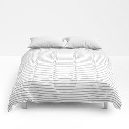 Gray Stripes 1 Comforters