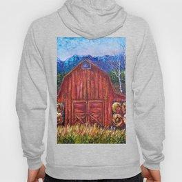 Red Barn by Lena Owens Hoody